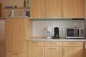 Kuechenzeile mit Kühlschrank